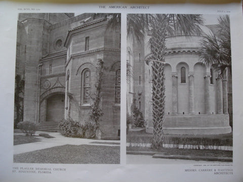 Details of the Flagler Memorial Church , St. Augustine, FL, 1909, Carrere & Hastings