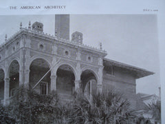 Parsonage for the Flagler Memorial Church , St. Augustine, FL, 1909, Carrere & Hastings