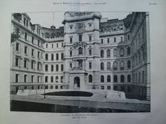 Court Front of St. Luke's Hospital, New York, NY, 1899, Ernest Flagg
