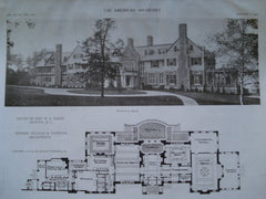 House of Mrs. W.L. McKee , Bristol, RI, 1910, Kilham & Hopkins
