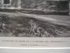 Alterations to the House of J.S. Watson, Esq. , Rochester, NY, 1898, Howard & Cauldwell