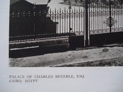 West Elevation of the Palace of Charles Beyerle, Esq., Cairo, Egypt, AFR, 1910, Carlo Prampolini