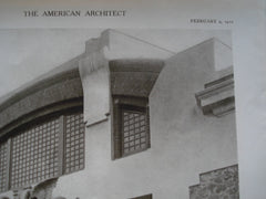 Detail of the Garage of the Palace of Charles Beyerle, Esq., Cairo, Egypt, AFR, 1910, Carlo Prampolini