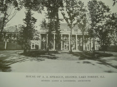 House of A.A. Sprague, Second, Forest Lake, IL, 1915, Messrs.Albro & Lindeberg