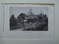 House of J.B. Miller, Esq., Pasadena, CA, 1899, Locke & Munsell