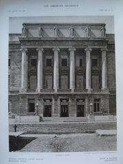 Entrance Detail of the Shelby County Court House , Memphis, TN, 1910, Hale & Rogers