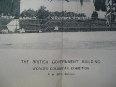 British Government Buildings for the World's Columbian Exhibition , Chicago, IL, 1893, R.W. Edis