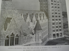 Office Building for the Delaware & Hudson & Co, Albany, NY, 1915, Mr. Marcus T. Reynolds