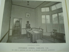 Jefferson School, Oakland, CA, 1915, Mr. John J. Donovan and Mr. W.J. Miller