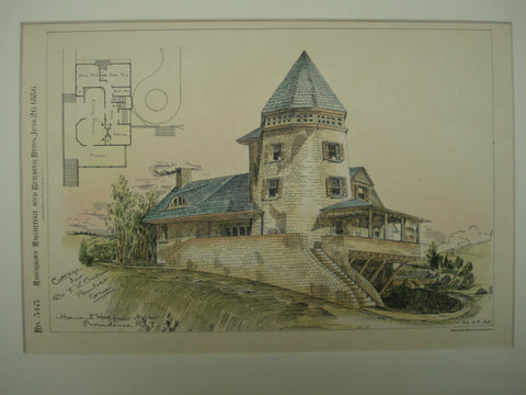 Cottage for Dr. F. W. Chapin, Pomfret, CT, 1886, Howard Hoppin