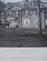 House of Gustav Schirmer, Esq, Princeton, NJ, 1905, Cope & Stewardson