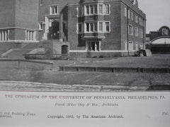 Gymnasium of the University of Pennsylvania, Philadelphia, PA, 1905, Frank Miles Day & Bro.