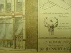 Building for the Estate of Nathaniel Whiting, Boston, MA, 1881, Geo. H. Young