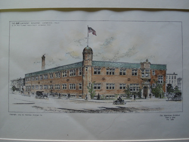 E & R Laundry Building, Cambridge, MA, 1904, C.H. McClare