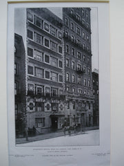 Apartment House, West 46th Street, New York, NY, 1905, Israels & Harder