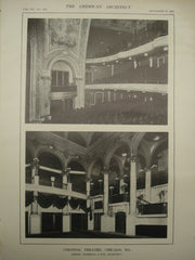 Interior of the Colonial Theatre , Chicago, IL, 1913, Marshall & Fox