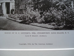 House of M.C. Lefferts, Esq., Cedarhurst, Long Island, NY, 1905, Lord & Hewlett
