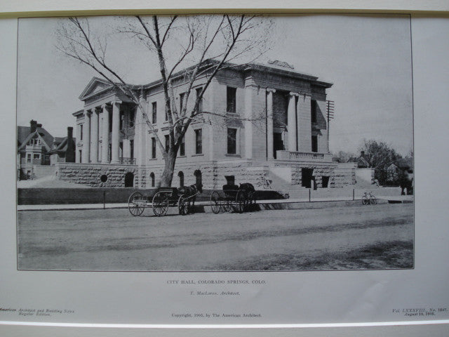 City Hall, Colorado Springs, CO, 1905, T. MacLaren