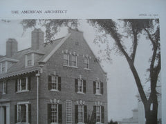 House of Alfred C. Potter, Esq., Cambridge, MA, 1910, Richard Arnold Fisher
