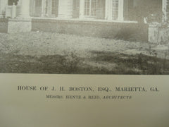 House of J. H. Boston, Esq., Marietta, GA, 1913, Hentz & Reid