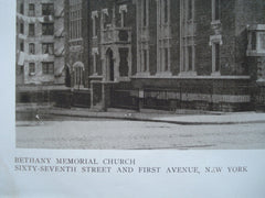 Bethany Memorial Church, Sixty-Seventh Street and First Avenue, New York, NY, 1910, Nelson & Van Wagenen