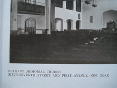Interior of the Bethany Memorial Church, Sixty-Seventh Street and First Avenue , New York, NY, 1910, Nelson & Van Wagenen
