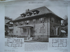 House for Dr. Cater , Brick Church, Orange, NJ, 1910, Mann & McNeille