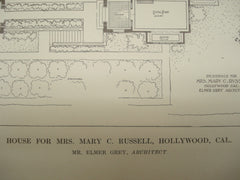 House for Mrs. Mary C. Russell , Hollywood, CA, 1913, Elmer Grey