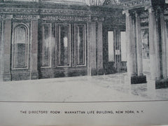 Director's Room in the Manhattan Life Building , New York, NY, 1897, Kimball & Thompson