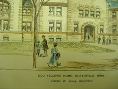 Odd Fellows Home , Northfield, MN, 1899, Harris W. Jones