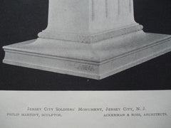 Jersey City Soldiers' Monument , Jersey City, NJ, 1898, Ackerman & Ross