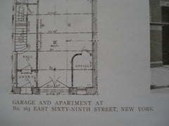 Garage and Apartment at No. 163 East Sixty-Ninth Street, New York, NY, 1910, Albro & Lindeberg
