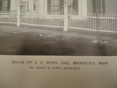 House of E. P. Rowe, Esq., Brookline, MA, 1913, Henry W. Rowe