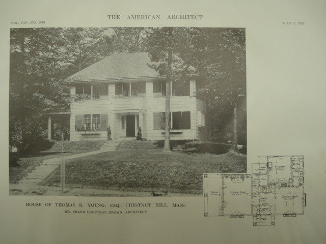 House of Thomas R. Young, Esq., Chestnut Hill , MA, 1913, Frank Chouteau Brown