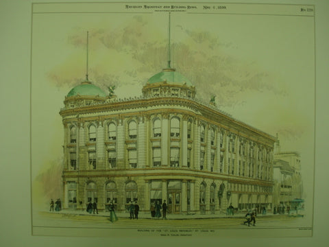 Building of the St. Louis Republic , St. Louis, MO, 1899, Isaac S. Taylor