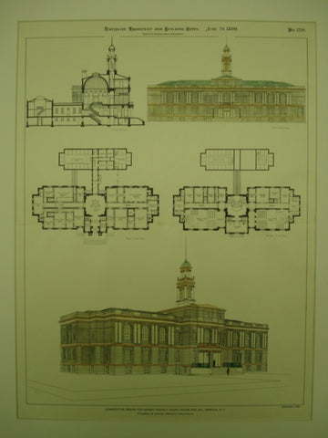Competitive Design for the Nassau County Court House and Jail , Mineola, NY, 1899, Pickering & Lawyer