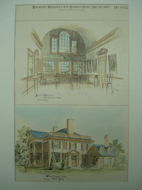 House of Count Rumford , Woburn, MA, 1895, G. P. Fernald