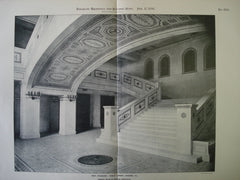Main Staircase: Public Library , Chicago, IL, 1898, Shepley, Rutan & Coolidge