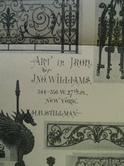 Art in Iron , New York, NY, 1898, Jno. Williams