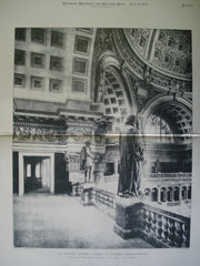 Rotunda Gallery: Library of Congress , Washington, DC, 1897, Smithmeyer & Pelz and P.J. Pelz, E.P. Casey