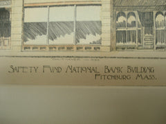 Safety Fund National Bank Building , Fitchburg, MA, 1895, H. M. Francis