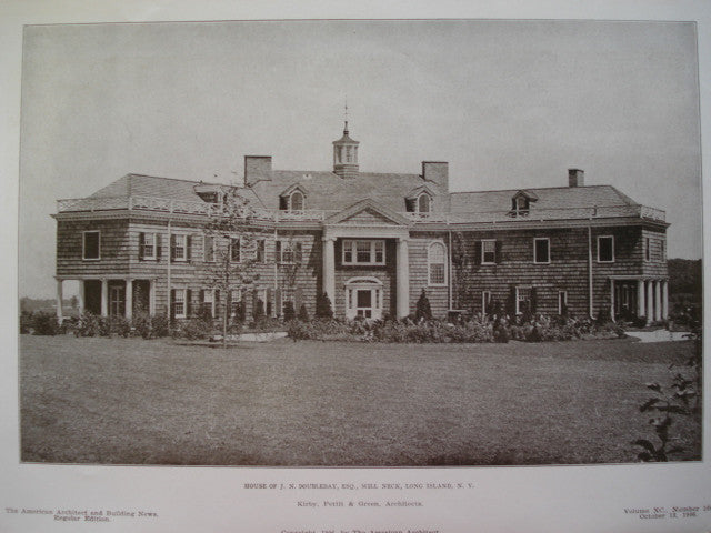 House of J.N. Doubleday, Esq., Mill Neck, Long Island, NY, 1906, Kirby, Pettit, & Green