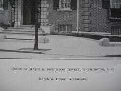 House of Major R. Dickinson Jewett, Washington, DC, 1906, Marsh & Peter