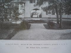 Entrance Front: House of Mr. Theodore E. Conklin, Quogue, Long Island, NY, 1908, Mr. Wilson Eyre