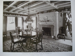Dining-Room: House of William G. Clark, Esq., Westerly, RI, 1905, Warrington G. Lawrence