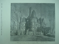 House of Francis B. Hayes , Lexington, MA, 1886, J. Ph. Rinn