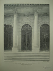 Entrance Grilles of the House of E. J. Berwind, Esq., Newport, RI, 1904, Horace Trumbauer