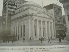 Building for the Savings Union Bank , San Francisco, CA, 1913, Bliss and Faville