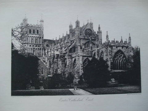 Exeter Cathedral, East View , Devon, England, 1886