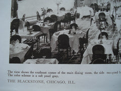 Main Dining Room in the Blackstone , Chicago, IL, 1910, Marshall & Fox